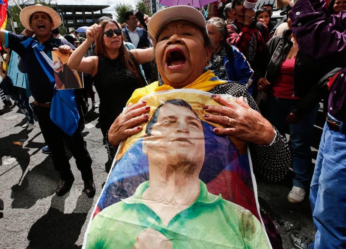 Protestas sobre Rafael C. EFE