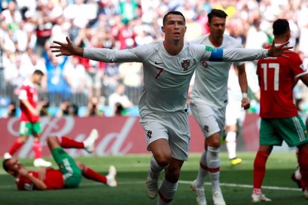 Gol de Cristiano Ronaldo a Marruecos