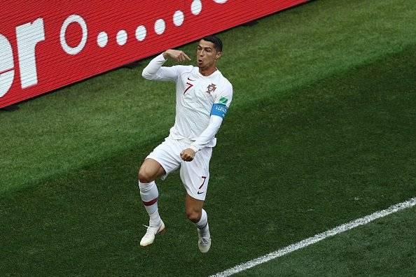 Cristiano Ronaldo marcó su cuarto gol contra Marruecos Getty Images