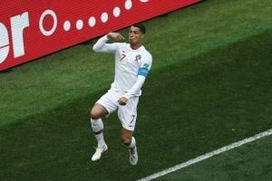 Cristiano Ronaldo marcó su cuarto gol contra Marruecos