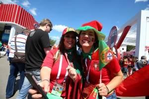 La belleza de las aficionadas portuguesas llegó a Rusia