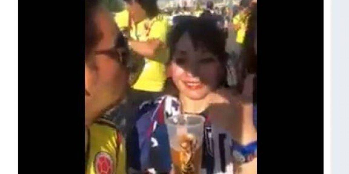 ¡Terrible actitud! Fan colombiano comparte video que denigra a hinchas japonesas