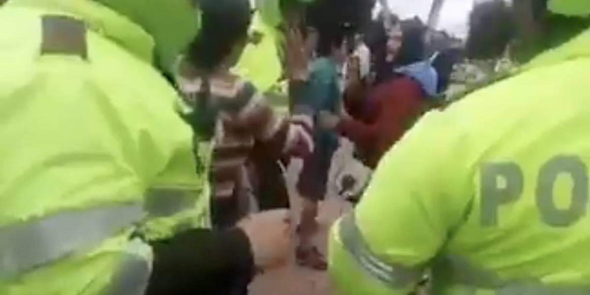 Denuncian maltrato a vendedores ambulantes que estaban cerca de Plaza Imperial