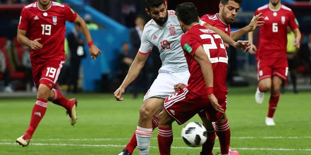 Espanha vence o Irã com único gol de Diego Costa