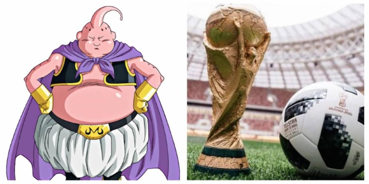 """FOTOS. """"Majin Boo"""" se hizo presente en la Copa del Mundo"""