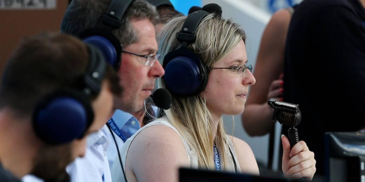 Vicki Sparks, la primera mujer en narrar en vivo en un Mundial