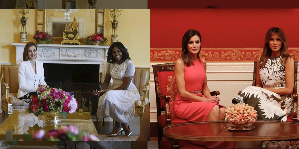 ¡Sin conexión! Encuentro entre Letizia y Melania estuvo muy lejos de la complicidad que mostró con Michelle Obama