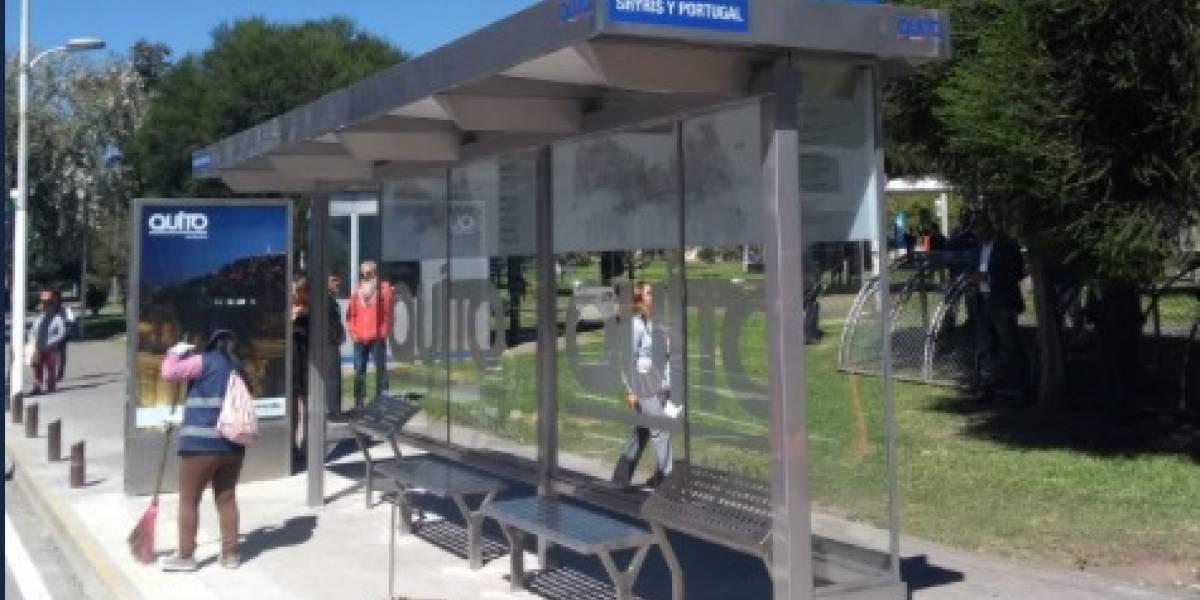 150 días tardará el plan de mejoramiento de 414 paradas de buses en Quito