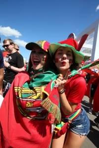 Las aficionadas de Portugal robaron suspiros