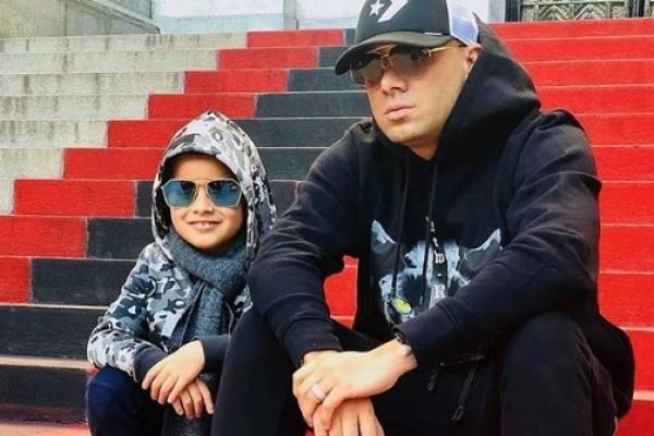 Wisin junto a su hijo Dylan