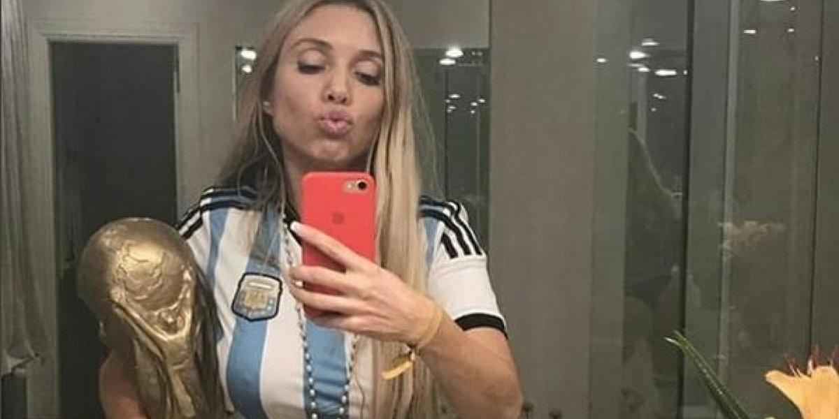 Melisia, sexy aficionada de Argentina y aspirante a Novia del Mundial