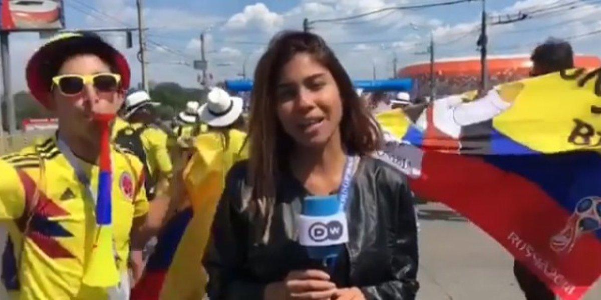 Assédio na Copa: Torcedor agarra jornalista durante transmissão do Mundial na Rússia