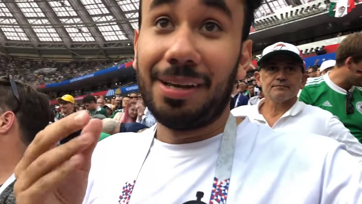 Werevertumorro exhibe por accidente a diputado salvadoreño en el Mundial Rusia 2018