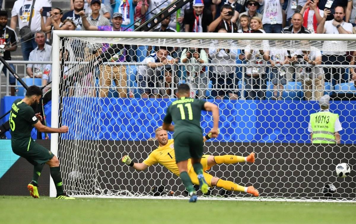 Con este penal asesorado por el VAR Australia empató su juego