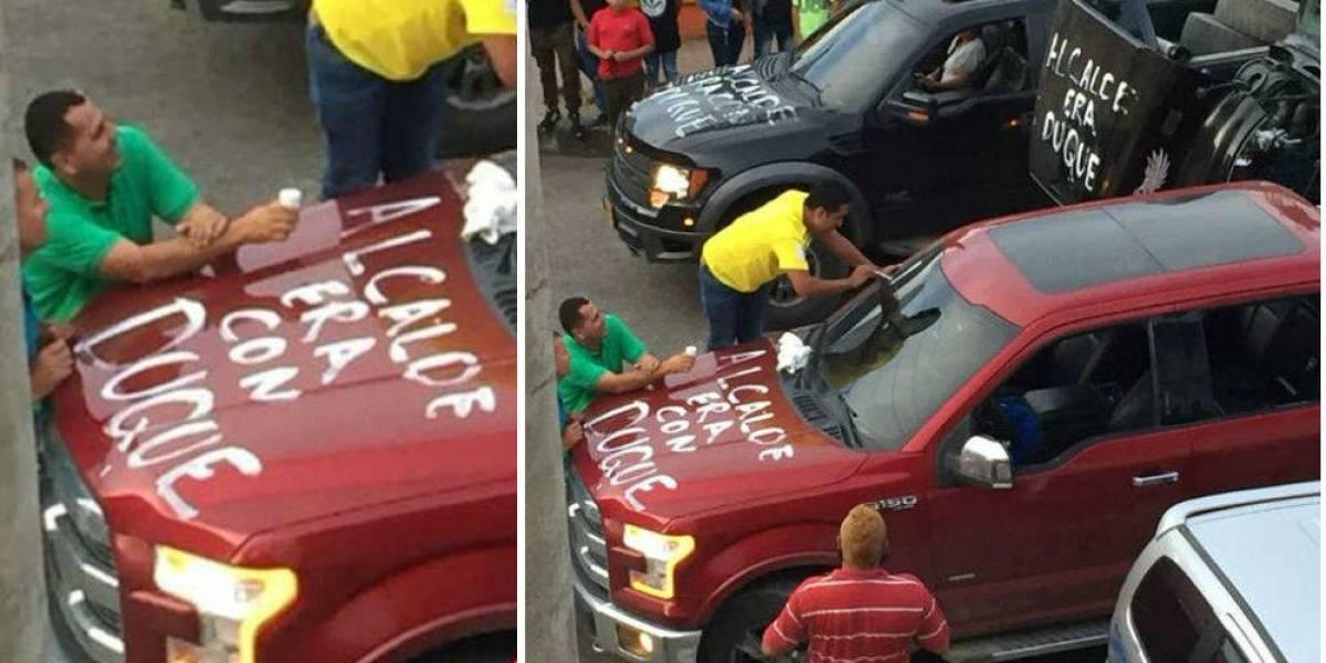 Atacan carros de administración del único municipio del Eje Cafetero donde ganó Petro