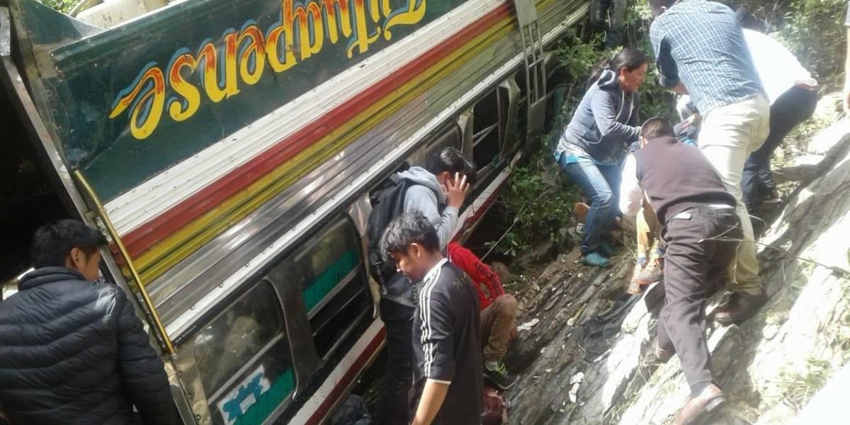 MP confirma que adolescente manejaba bus de estudiantes que se accidentó en San Marcos
