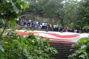accidente de bus en Villa Canales