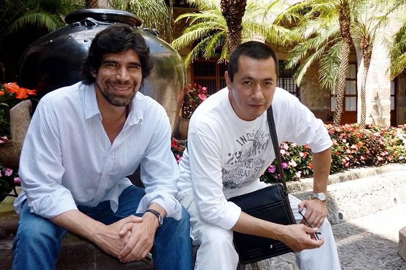 Alberto Estrella y el actor Víctor Carpinteiro