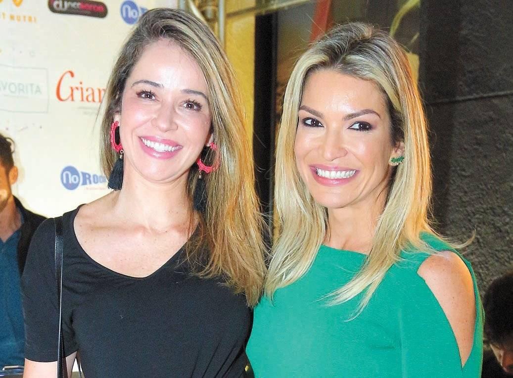 Ana Paula Galeão e Renata França na inauguração da Track&Field Larícia Fiorin