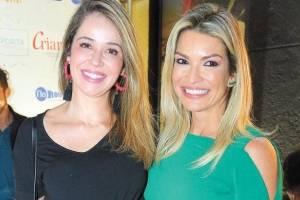 Ana Paula Galeão e Renata França na inauguração da Track&Field