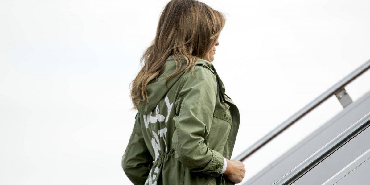 """La chaqueta de Melania Trump: """"Realmente no me importa, ¿y a ti?"""
