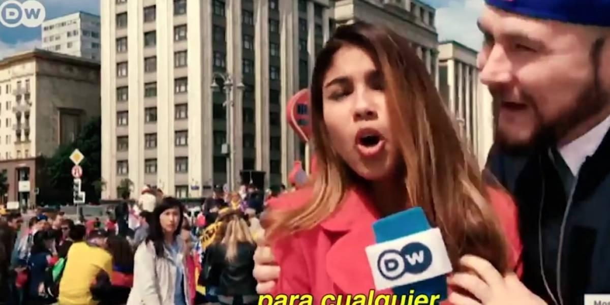 Hombre tocó el seno de una reportera colombiana en el Mundial