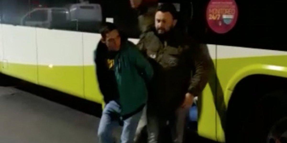 Casi se fuga del país: detienen en un bus de pasajeros a extranjero acusado de homicidio en Concepción