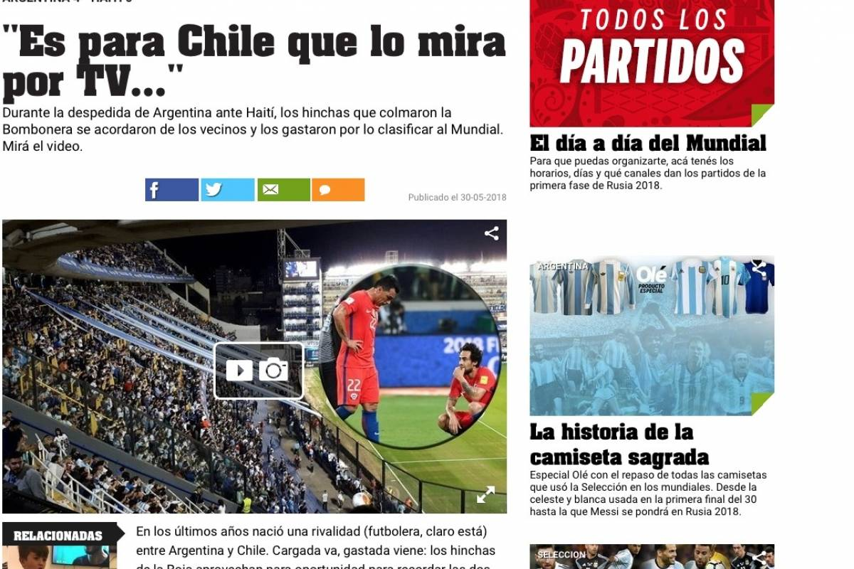 Las bromas a Chile fueron una constante antes del Mundial