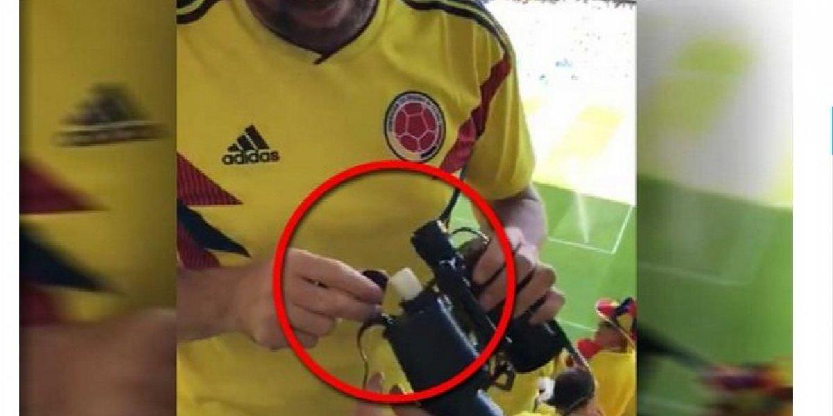 Las excusas del colombiano despedido por video con trago en partido de Colombia