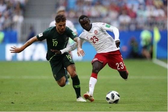 Dinamarca empató 1-1 con Australia Getty Images