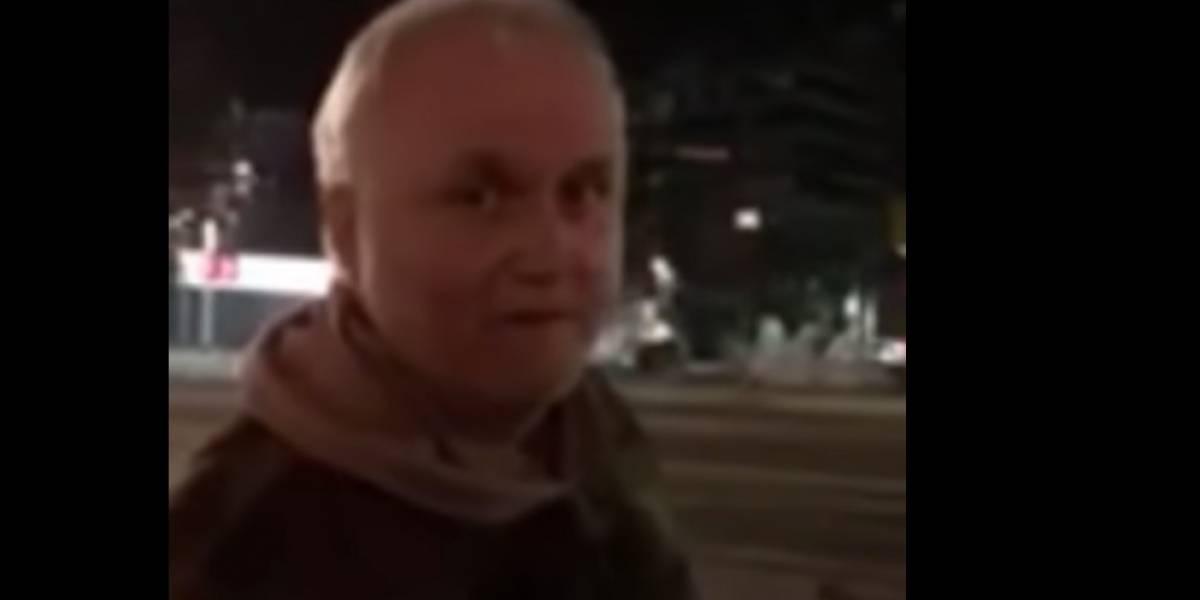 """""""¡Weón asqueroso!"""": El video con el que acusan al """"Rumpy"""" de escupir a una mujer"""