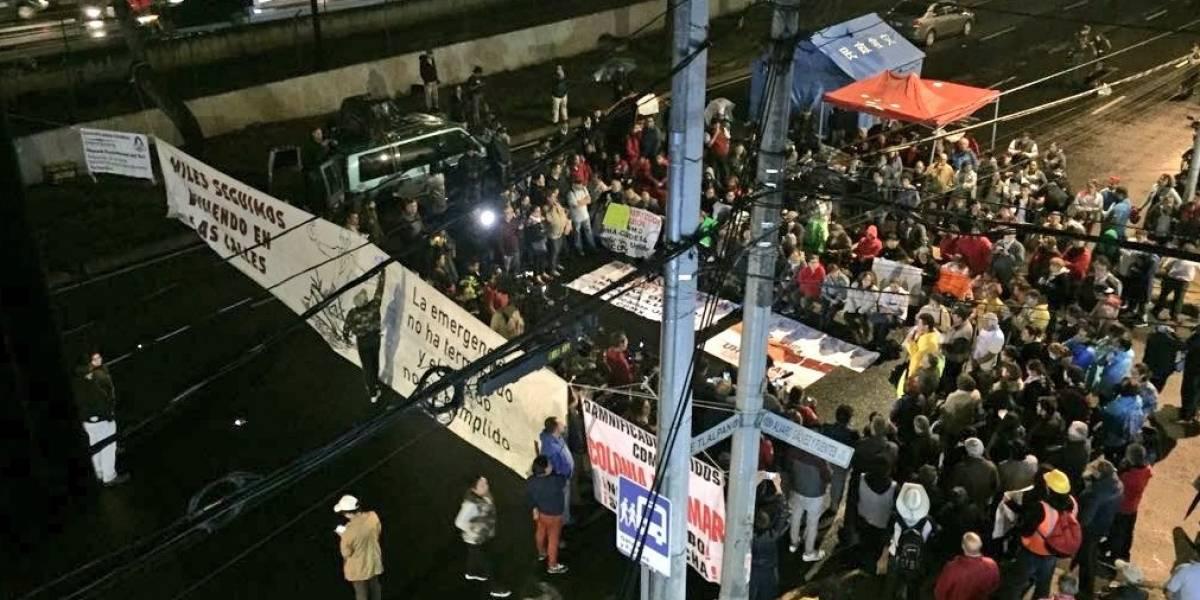 Damnificados del 19S instalan plantón indefinido en Tlalpan