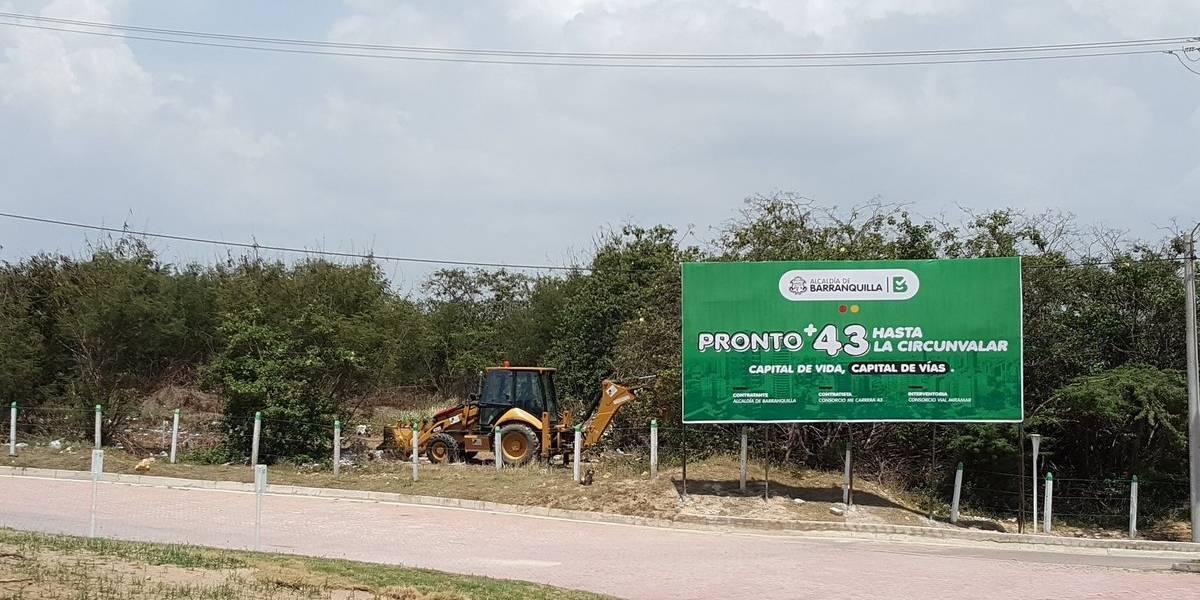 Arrancó la prolongación de la artería de la carrera 43 que aumentará el número de accesos a Barranquilla
