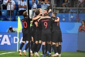 Los jugadores croatas celebran de forma eufórica