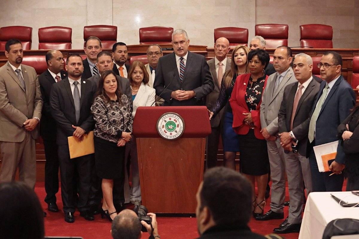 El caucus del Senado del PNP decidió no derogar la Ley 80.