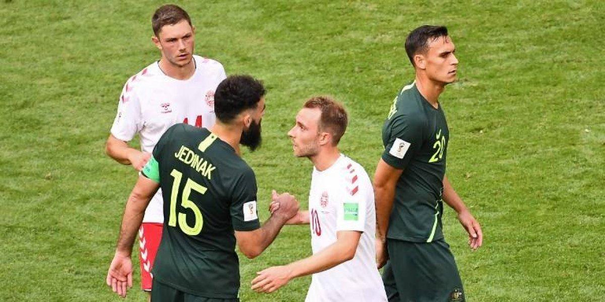 Dinamarca encamina su clasificación; VAR le dio el empate a Australia con un penalti