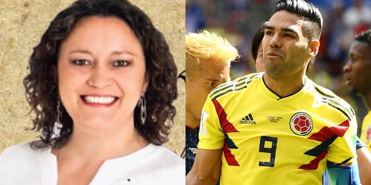 Angélica Lozano cargó contra Falcao por simular falta del gol de Quintero