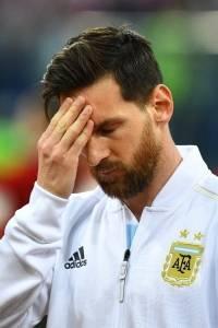 Lionel Messi, gesto