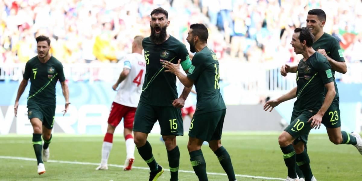 Así vivimos el trabajado empate entre Dinamarca y Australia por el Grupo C del Mundial