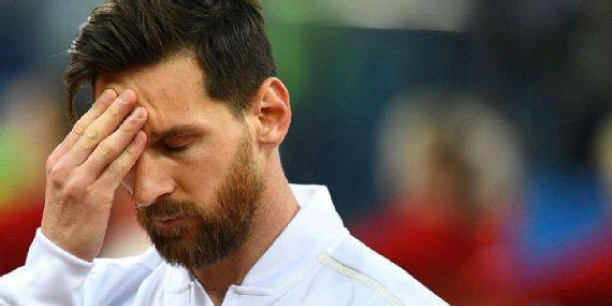 Imagen de Lionel Messi preocupado previo al juego ante Croacia causa polémica