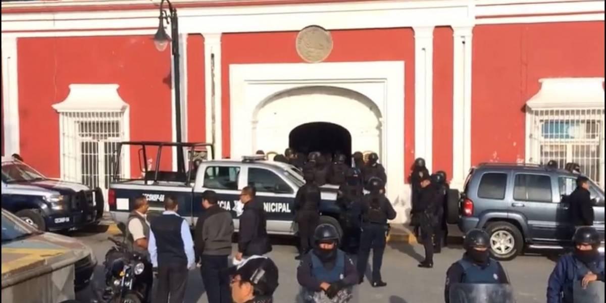 Gobierno de Puebla asume mando policial de Ciudad Serdán; hay 34 elementos detenidos