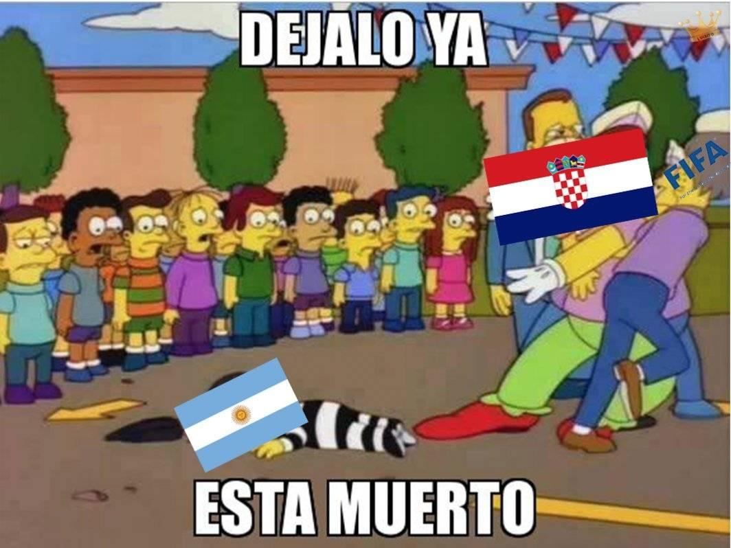 Argentina perdió contra Croacia 3 - 0 en el Mundial Rusia 2018 Twitter