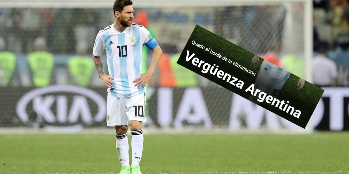 Prensa internacional destaca la 'vergüenza' de Argentina