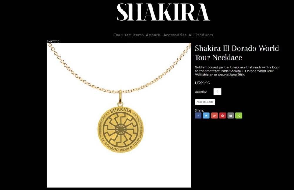 Collar de Shakira