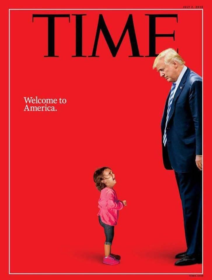 Capa da Time Trump menina migrante