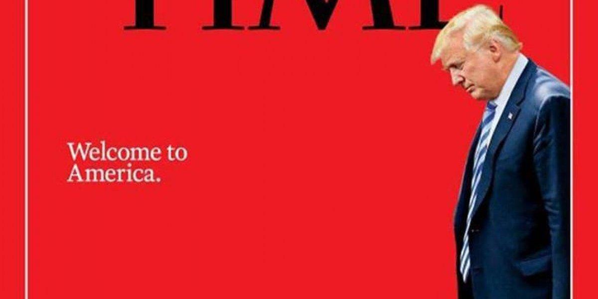 Capa da Time insinua Trump dando boas-vindas à menina migrante em prantos