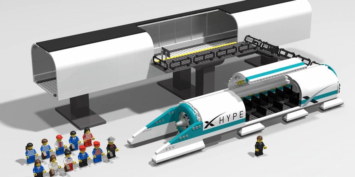 Imagina el Hyperloop de Elon Musk en LEGO: un español lo hizo posible