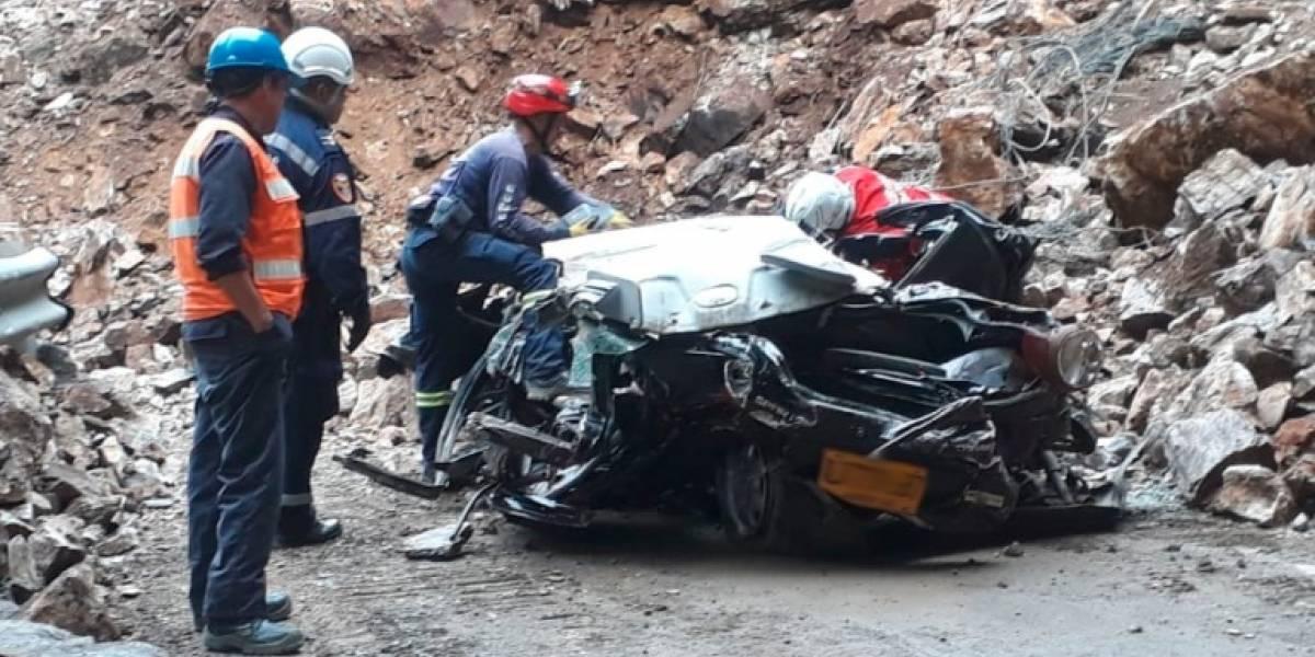 Derrumbe en la vía Bogotá - Villavicencio dejó sin vida a cuatro personas