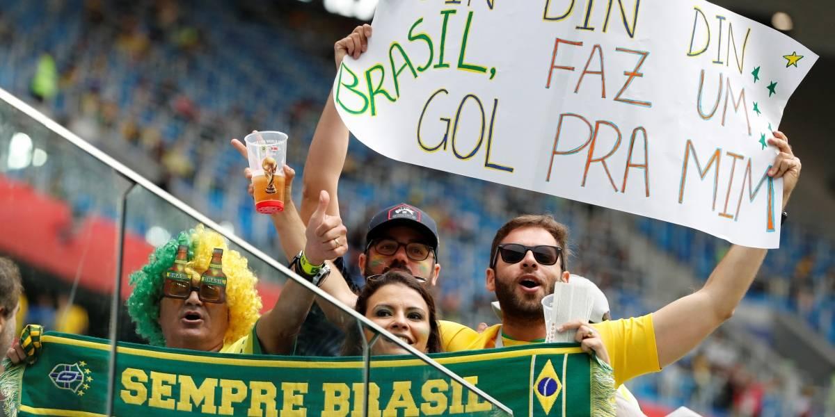 FOTOS: Torcida brasileira faz festa na Rússia em dia de jogo da Copa do Mundo