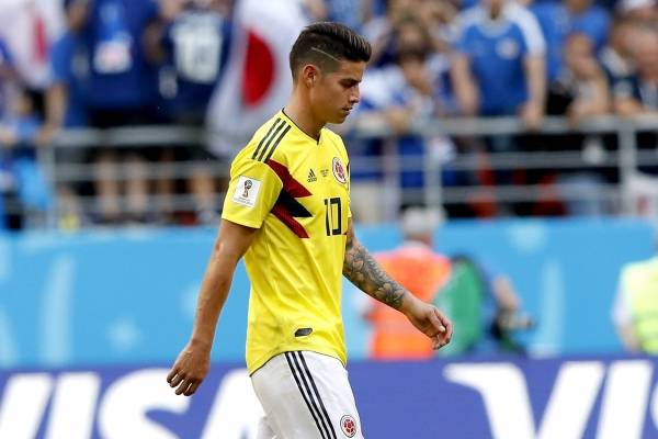 James Rodríguez sería titular frente a Polonia